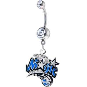 NBA Orlando Magic Crystalline Double Gem Belly Ring Jewelry