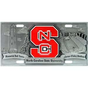 Carolina State Wolf Pack NCAA Pewter License Plate by Half Time Ent