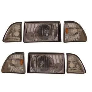 1987 1993 Ford Mustang KS Crystal Smoke Headlights w