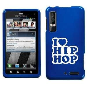 XT862 WHITE I LOVE HIP HOP ON BLUE HARD CASE COVER