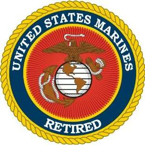 US Marine Corps Retired Decal Sticker 3.8 6 Pack