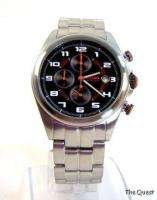 HUGO BOSS Mens Stainless Steel Chrono Watch 1512282 NWT