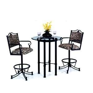 Gold Tempo Sonora Wide 40 Bar Height Pub Table Furniture & Decor