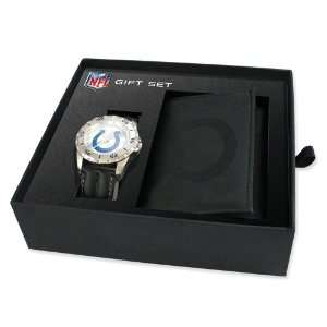 Mens NFL Indianapolis Colts Watch & Wallet Set Jewelry