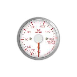 STRI Racing X Line 60mm Water Temp. Gauge White Dial Automotive