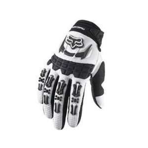 Fox Racing Youth Dirtpaw Full Finger MTB & BMX Gloves   White   03175