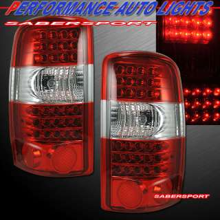 2000 2006 CHEVY CMC SUBURBAN TAHOE YUKON L.E.D. LED TAIL LIGHTS RED