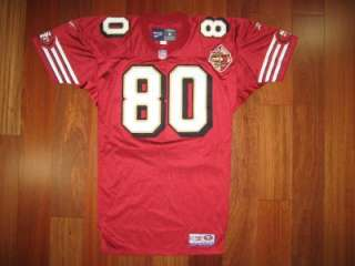 Jerry Rice REEBOK jersey MEDIUM SIGNED AUTOGRAPHED PRO Line