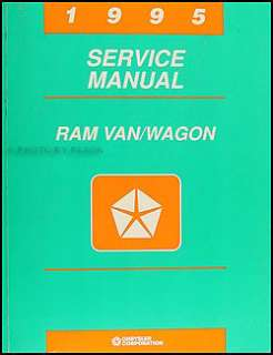 1995 Dodge Ram Van Wagon B1500 B2500 B3500 Shop Manual