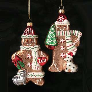 Kurt Adler Noble Gems Christmas Glass Gingerbread Men