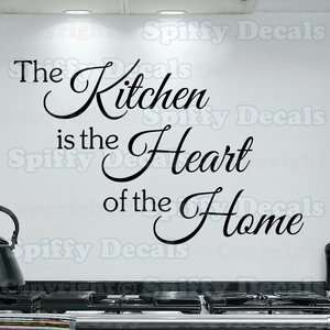 IS THE HEART OF THE HOME Quote Words Vinyl Wall Decal Decor Sticker