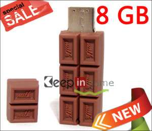3D 8GB 8 GB Chocolate Bar USB Flash Memory Stick Drive