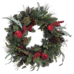 20 Apple Berry Pine Artificial Christmas Wreath with Pine