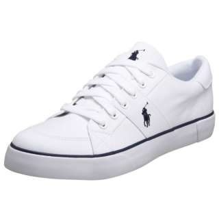 New Authentic Polo Ralph Lauren Harold Men White Sneakers Shoe Casual