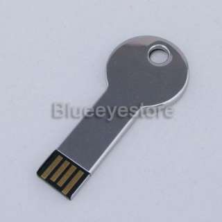 8GB Metal Key Shape USB Flash2.0 Memory pen Stick Drive