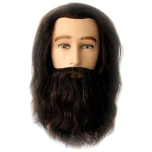 Celebrity Mr. Sam Cosmetology Human Hair Manikin with Beard Beauty