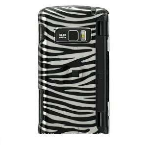 & SILVER ZEBRA Hard Plastic Cover Case for LG enV3 VX9200 + Screen