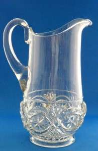This auction is for an EAPG McKee Brothers Glass Water Pitcher in