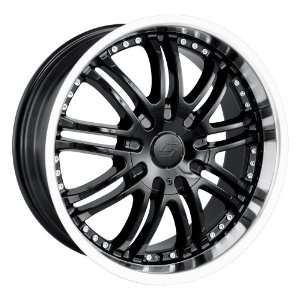 20x8.5 Sacchi S95 (295) (Black w/ Machined Lip) Wheels/Rims 6x135/139
