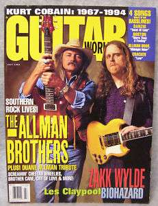 GUITAR WORLD MAGAZINE   JULY 1994 (ALLMAN BROTHERS)