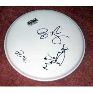 GREEN DAY autographed SIGNED Drumhead *PROOF Everything