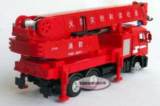 New Man Crane 6 Wheels Alloy Diecast Model Car With Box Red B478