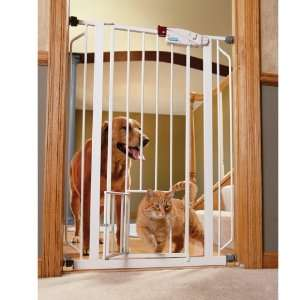 Carlson Extra Tall Walk Thru Gate with Pet Door, 4