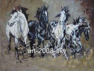 Original abstract Animal oil painting arthorse36x48