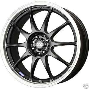 18 ENKEI J10 BLACK RIMS WHEELS RSX TSX CIVIC ECLIPSE XB