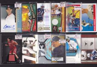 HUGE AUTO JERSEY PATCH ROOKIE/RC SPORTS CARD COLLECTION/LOT CUT AUTO+