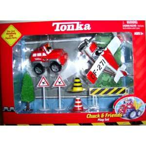 Tonka Chuck & Friends Fire Truck and Fire Airplane Playset