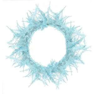 Whimsical Sky Blue Laser Christmas Wreath 20
