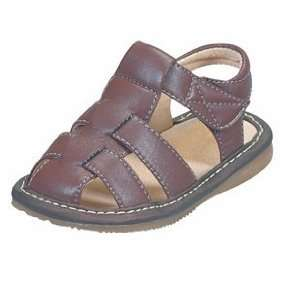 Boys Brown Sandal Toddler Shoe Size 6   Squeak Me Shoes 24136