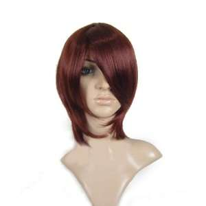 New short wine red cosplay Costume party Straight Wig wigs jf010051