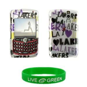 Lakers Design Snap On Hard Case for RIM BlackBerry Curve