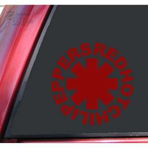 Red Hot Chili Peppers Vinyl Decal Sticker   Dark Red