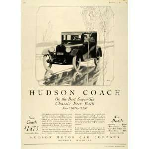 1924 Ad Hudson Motor Cars Coach Super Six Vehicle Model