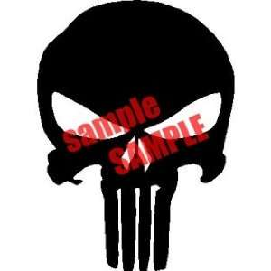 PUNISHER SKULL WHITE VINYL DECAL STICKER
