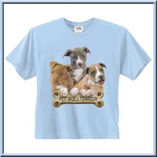 American Pit Bull Terrier Puppy Bone T Shirt Youth Size