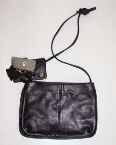 GIANI BERNINI BLACK SOFT LEATHER WALLET & CROSSBODY BAG