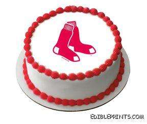 Boston Red Sox Baseball Edible Image Icing Cake Topper