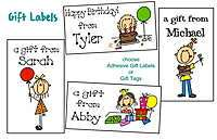 30 Personalized BIRTHDAY LABELS / STICKERS GIFT TAGS