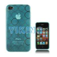 NEW Soft TPU Rubber Case Cover for Apple iPhone 4 4G iPhone 4S Blue