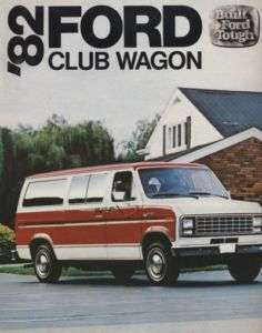 1982 Ford Club Wagon Van CDN Sales Brochure Book