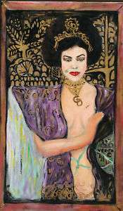 Original Fine Art Surrealism Gustav Klimt Dali Styl Contemporary