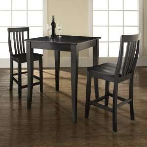Crosley Furniture KD320003BK   3 Piece Pub Dining Set with Cabriole