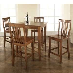 Crosley Furniture KD520003CH   5 Piece Pub Dining Set with Cabriole