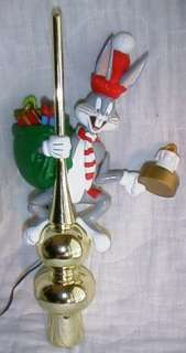 Mr Christmas BUGS BUNNY Animated/Light Up TREE TOPPER w/Box 1995