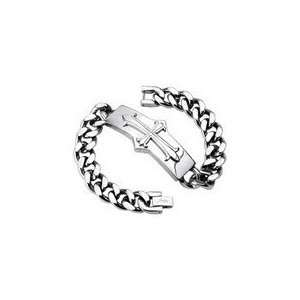 Stainless Steel Chain Links Mens Bracelet Jewelry