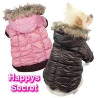 Luxury Puffy Dog Snow Parka Coat w/ Pocket Super Warm Thermal Pet